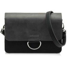 Μαύρη τσάντα ταχυδρόμου MariaMare VENUS