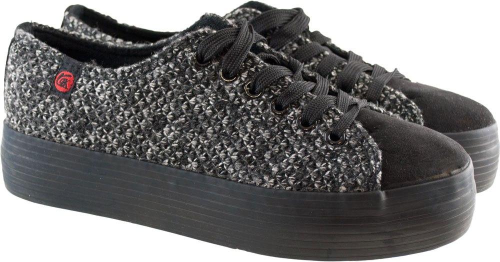 Μαύρα πλεκτά sneakers RL891