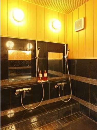 那須塩原【ビジネスホテル アジサイ】女性用貸切風呂の洗い場