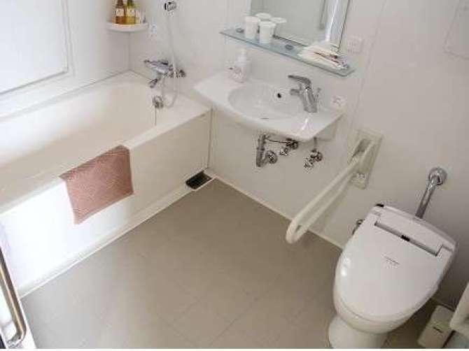 那須塩原【ビジネスホテル アジサイ】ユニバーサルルーム(洋室ツイン・23.8平米)バスルーム