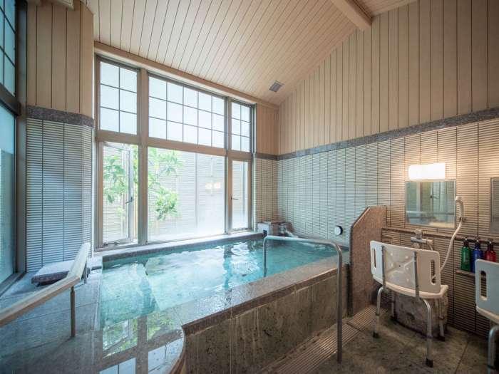【ホテル天坊】貸切家族風呂「からっ風」はユニバーサルデザインで車いす対応