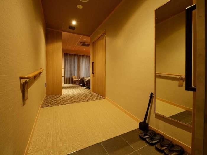 【JPリゾート伊豆高原】スタンダードユニバーサルツインの入り口