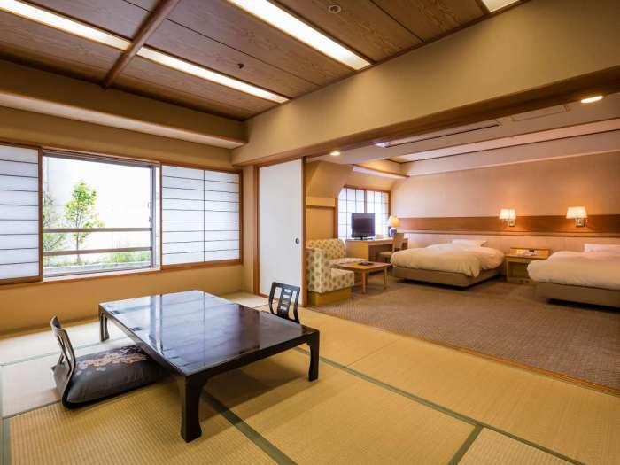 「ホテル河鹿荘」バリアフリー対応の部屋【山百合】