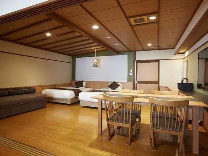 【ホテル木暮】山水亭洋室(露天風呂付きユニバーサルツインルーム)