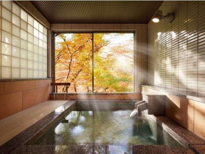 【静寂とまごころの宿 七重八重】バリアフリー対応の貸切温泉風呂「光包の湯(みつかねのゆ)」