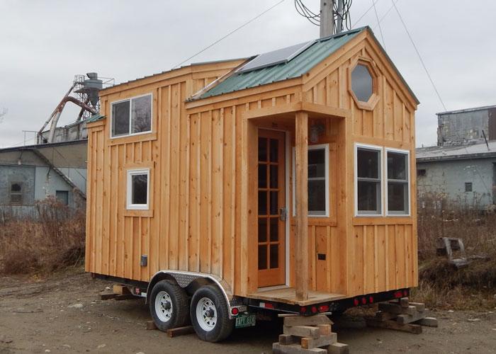 8x16 Cross Gable Tiny House On A Trailer