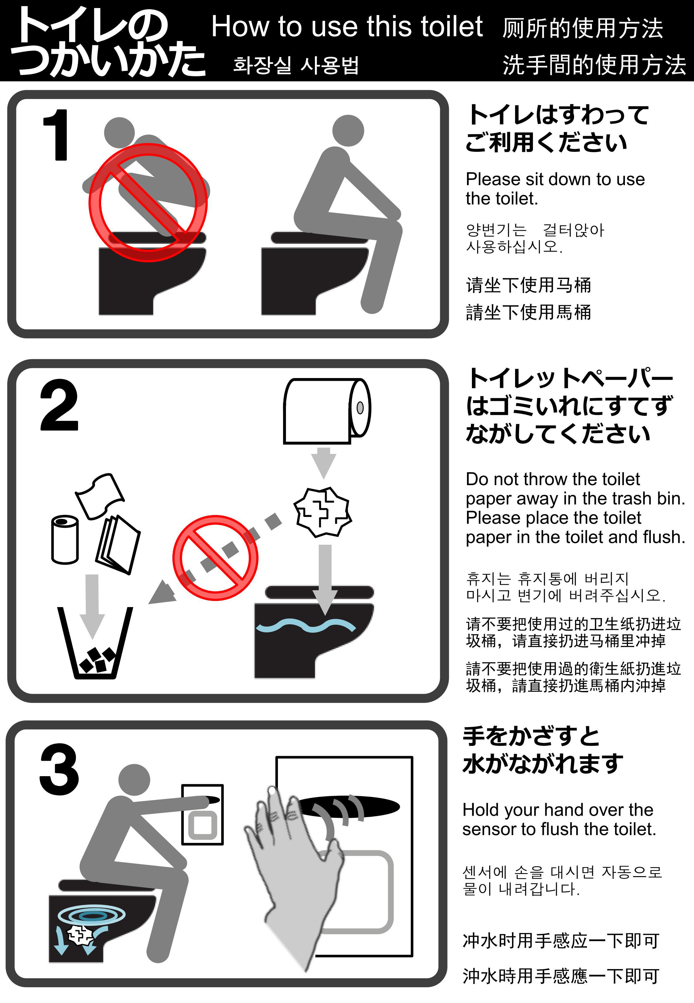 Kyoto turns to toilet etiquette signs in a bid to flush
