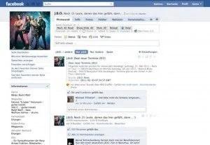 Screenshot: J.B.O. Facebook-Fanpage