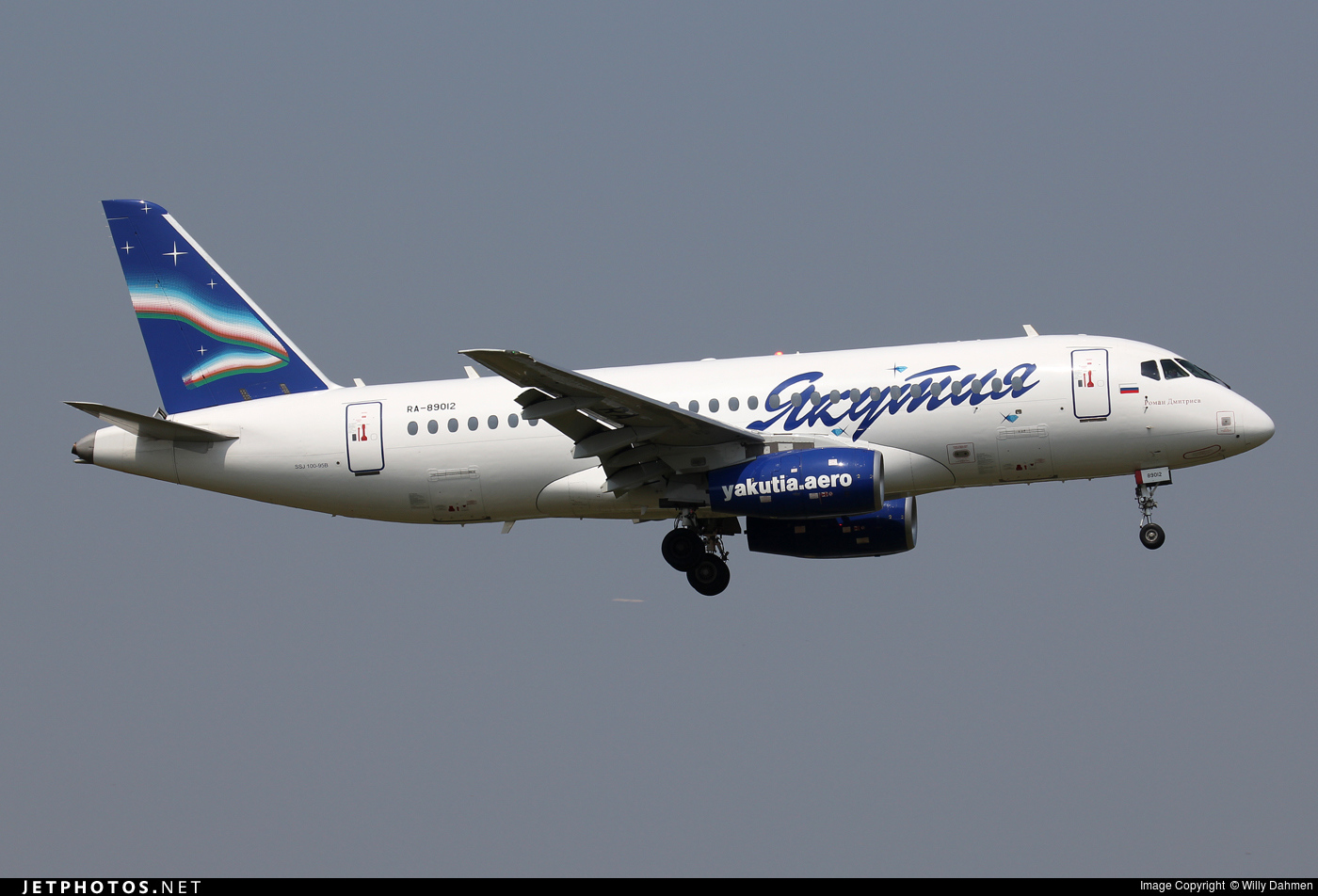 hight resolution of ra 89012 sukhoi superjet 100 95b yakutia airlines