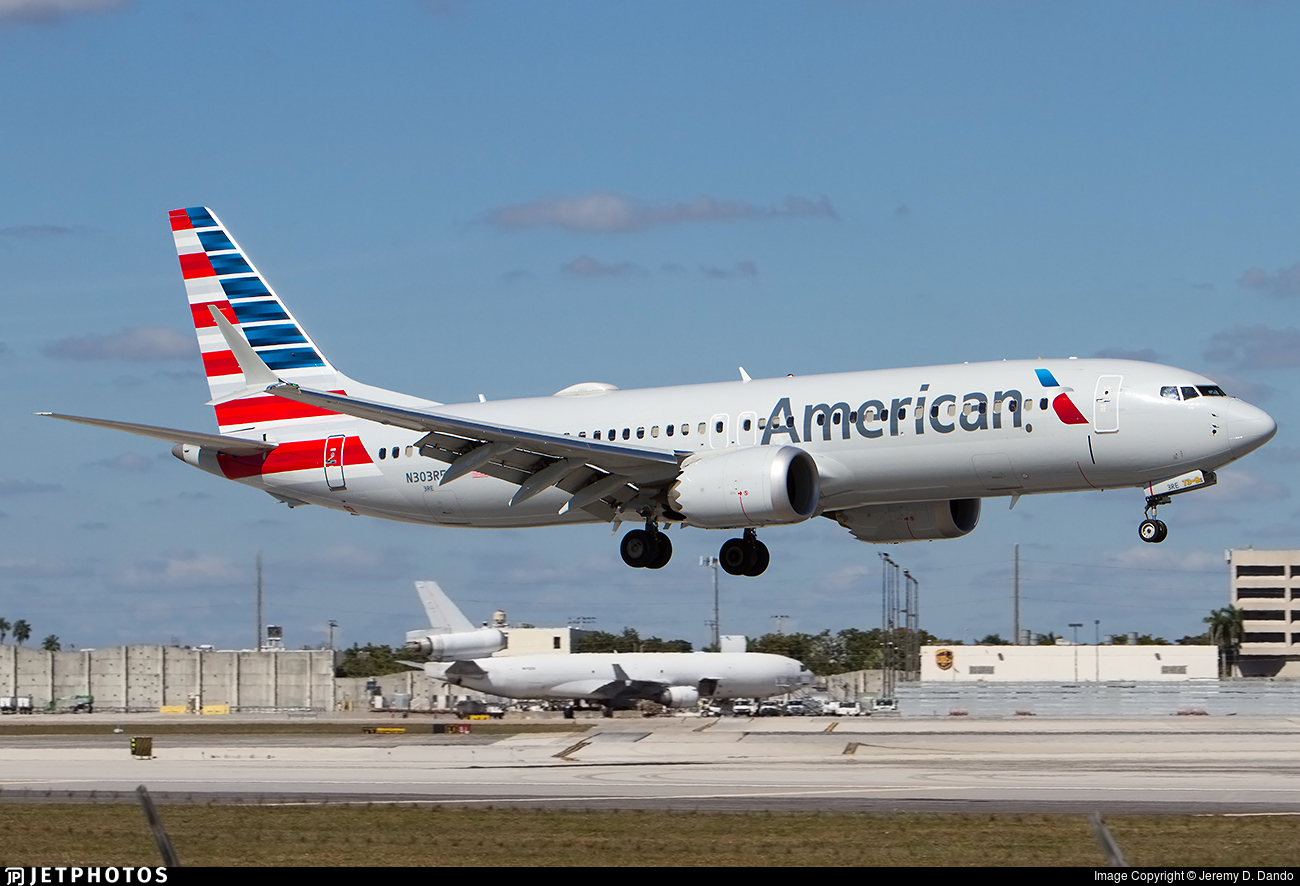 N303RE | Boeing 737-8 MAX | American Airlines | Jeremy D. Dando | JetPhotos