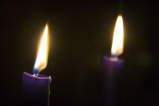 Resultado de imagen para two purple candles