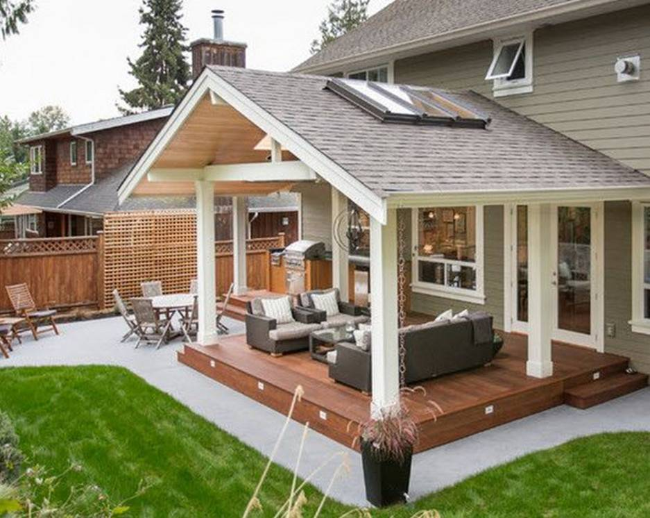 covered back porch backyard patio plans