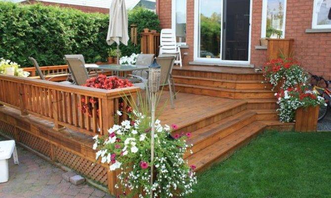 deck patio ideas small backyards large