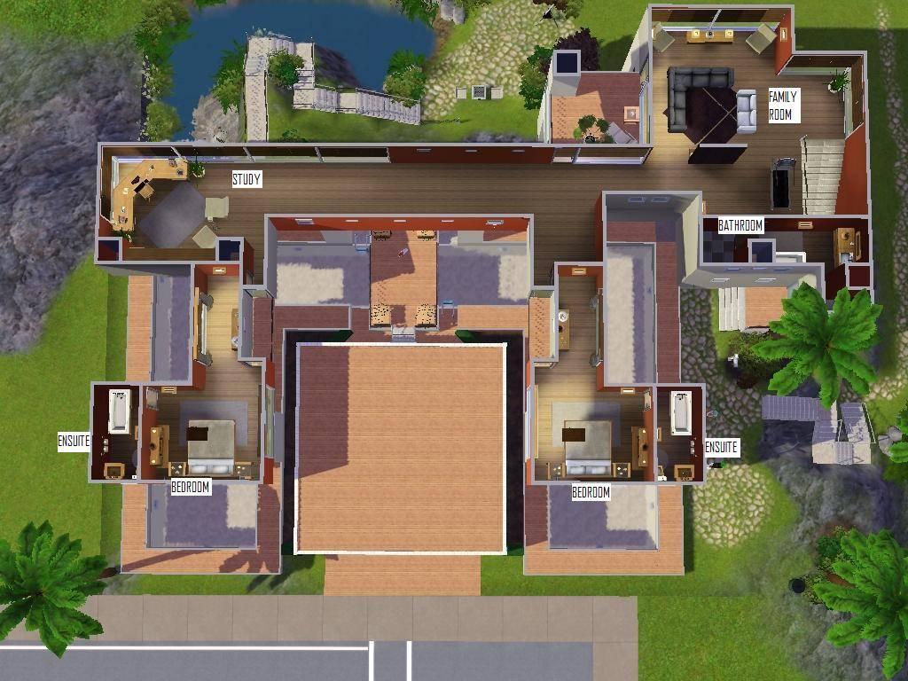sims 3 modern house ideas