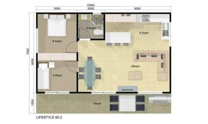 2 Floor Plan Guest House Bedroom Pinterest 25 Simple Plans