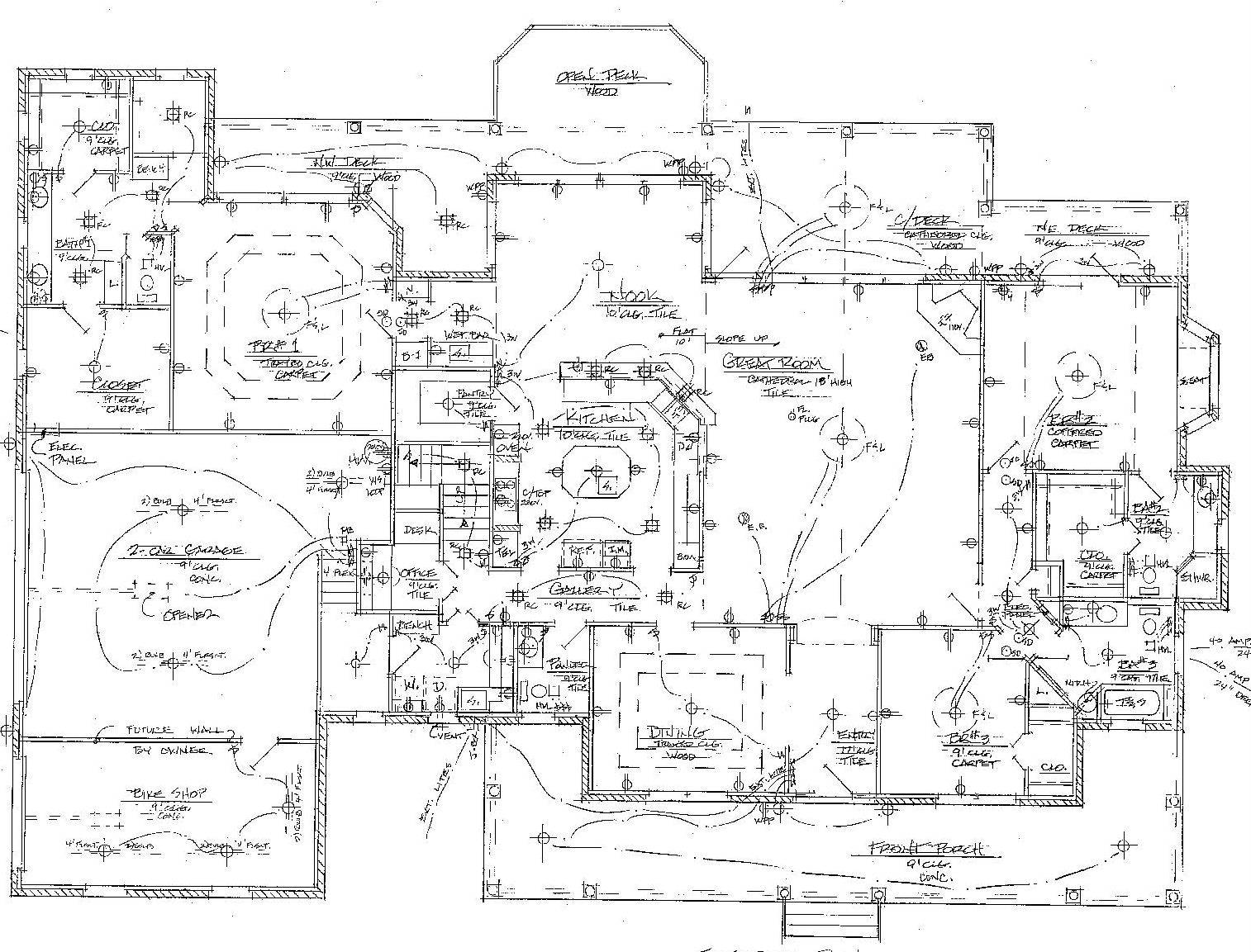 House Electrical Wiring Floor Plan Besides Restaurant