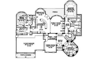 houseplansandmore plan medieval homeplans manor floor enlarge