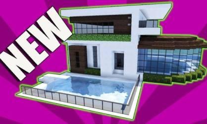 Minecraft Build Small Modern House Tutorial House Plans #144154
