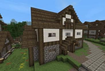 Minecraft Medieval Village House Designs House Plans #8984