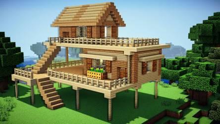 Minecraft Starter House Tutorial Build House Plans #155284