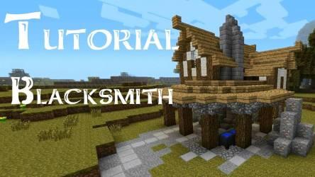 Minecraft Tutorial Build Medieval Blacksmith Youtube House Plans #53103