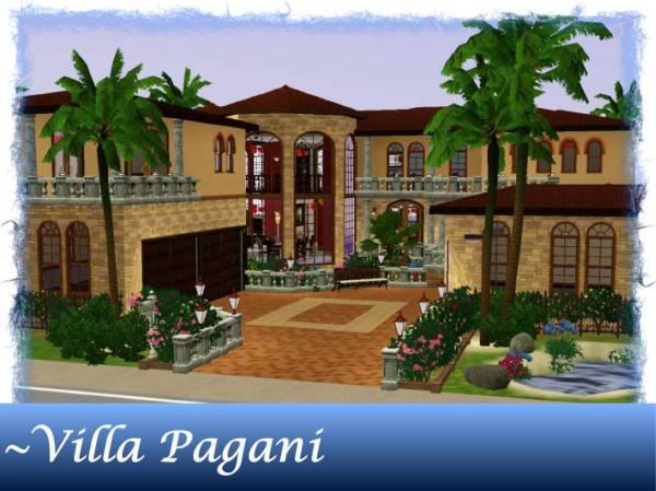 Mod Sims Villa Pagani Mediterranean Luxury Home Beach ...