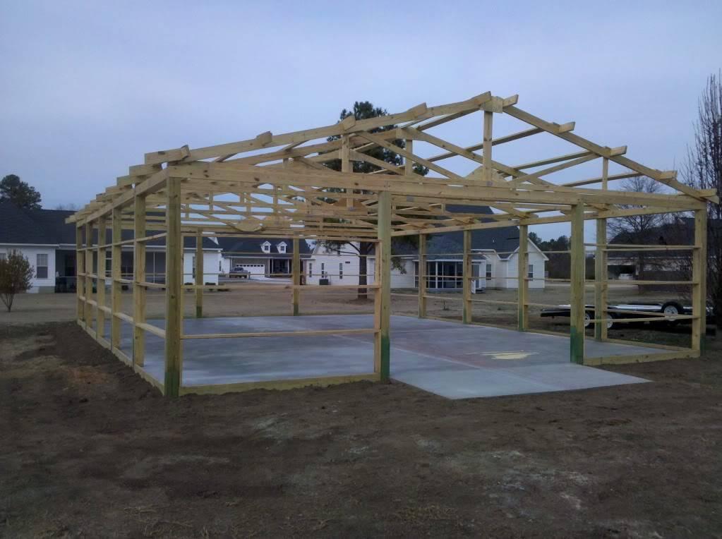 Pole Barn Build Thread Garage Journal Board House Plans 18034
