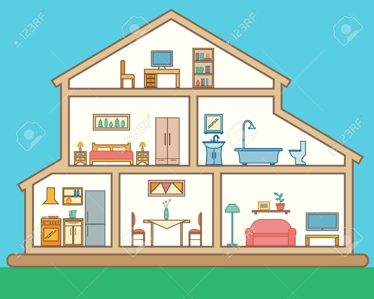 Rooms House Clipart Clipartxtras
