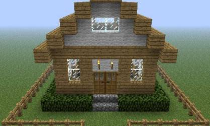 Small Cottage Home Minecraft Project House Plans #143418