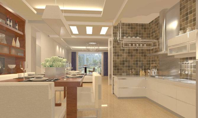 Small Open Plan Kitchen Living Room Design House Plans 88248