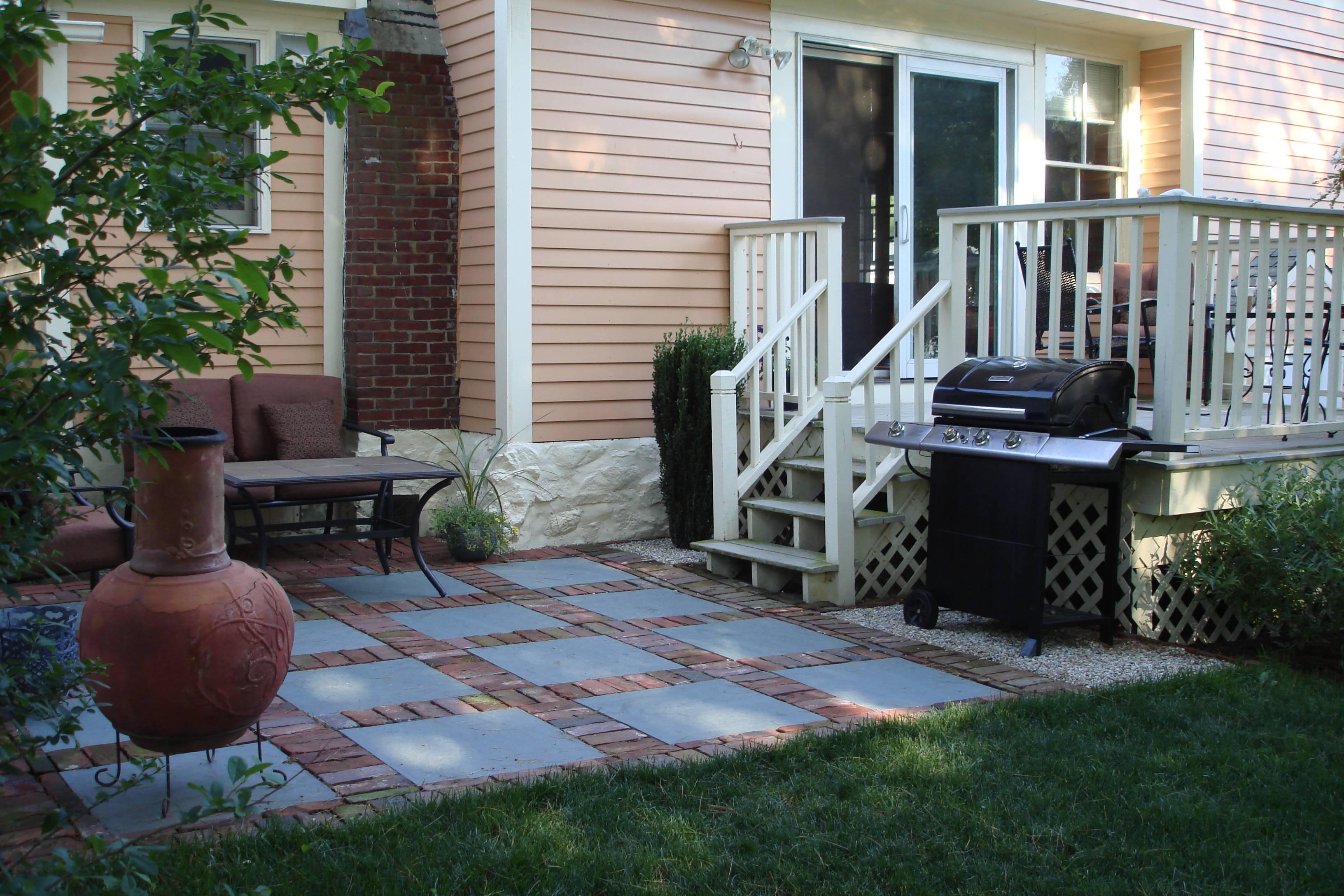 small patio area designs deck house