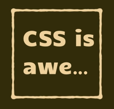 The words 'CSS is awesome' where 'awesome' is truncated within its containing box to 'awe...'