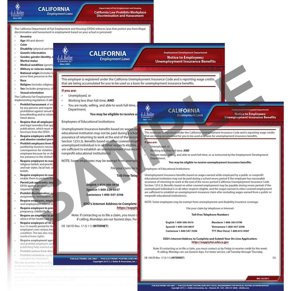 california federal electronic labor law poster management service