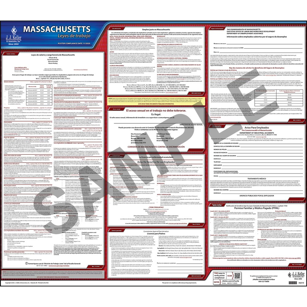 2021 massachusetts federal labor law posters