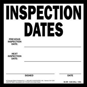 Vehicle Inspection Labels