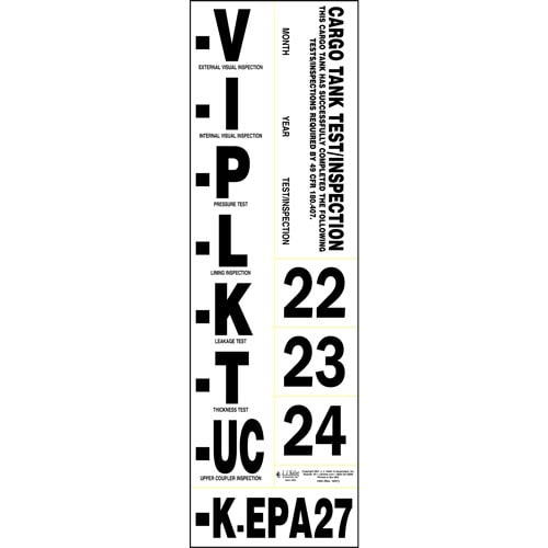 Cargo Tank Annual Inspection Label