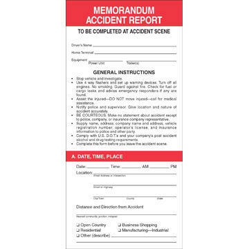 Memorandum Accident Report