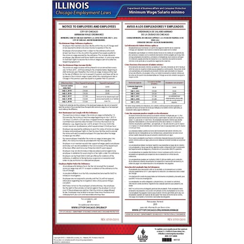 illinois chicago minimum wage poster