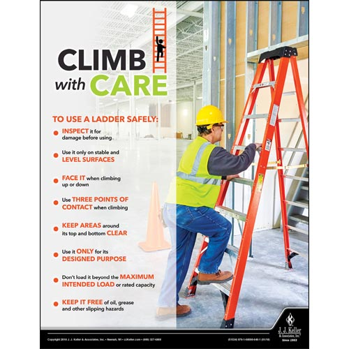ladder safety posters free hse images