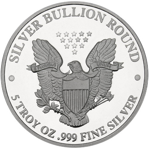 Buy 5 oz SilverTowne US Eagle Replica Rounds l JM Bullion™