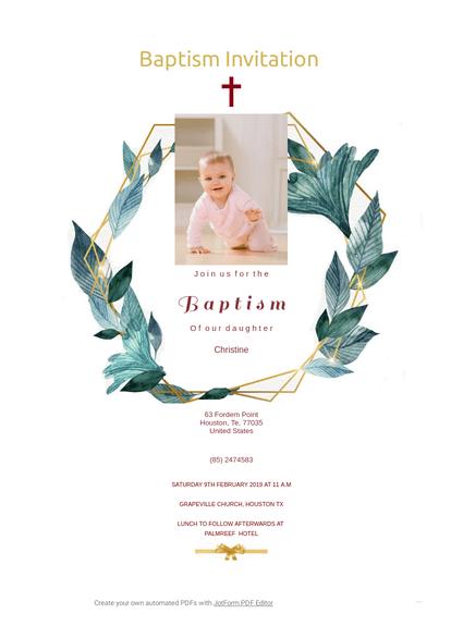 baptism invitation template pdf