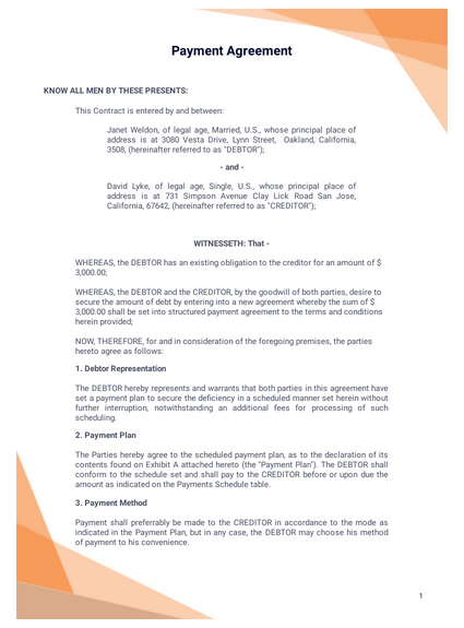 Agreement Letter Between Two People : agreement, letter, between, people, Payment, Agreement, Template, Templates, JotForm