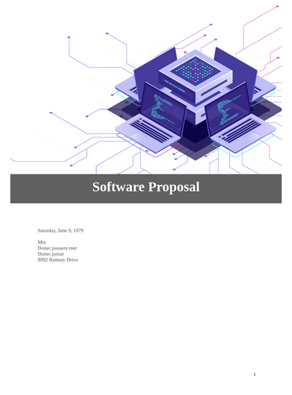 Include any references to service level agreements which describe the performance requirements, availability, security requirements, expected response times, system backups, expected transaction rates, initial storage requirements with expected growth rate, as … Software Proposal Template Pdf Templates Jotform