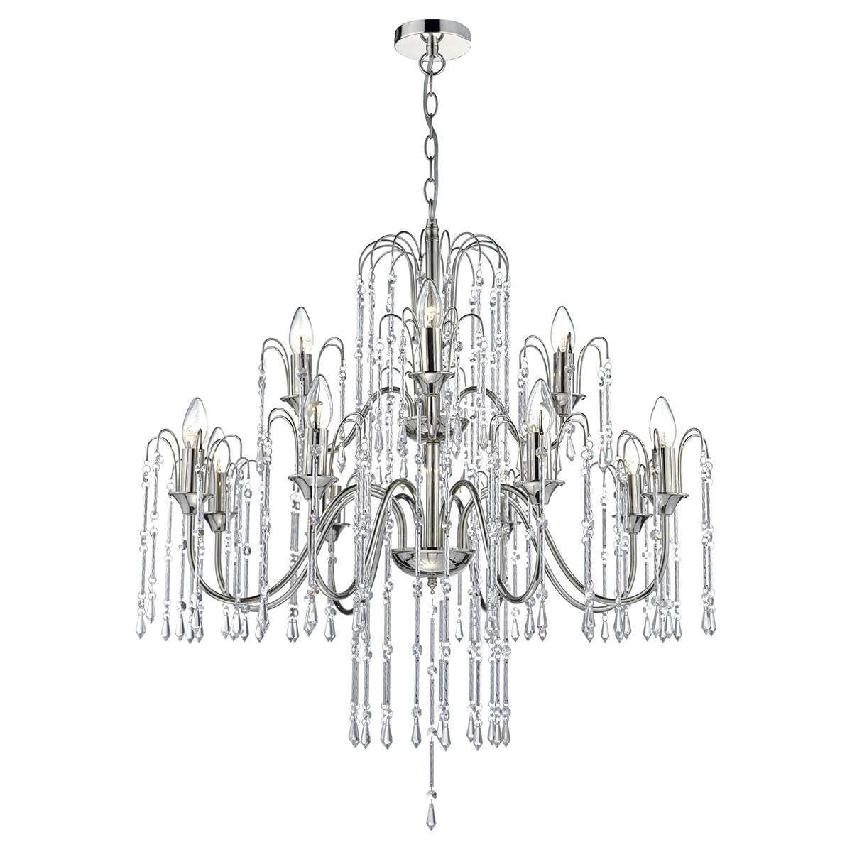 Dar Lighting Dan Daniella 12 Light Pendant Polished
