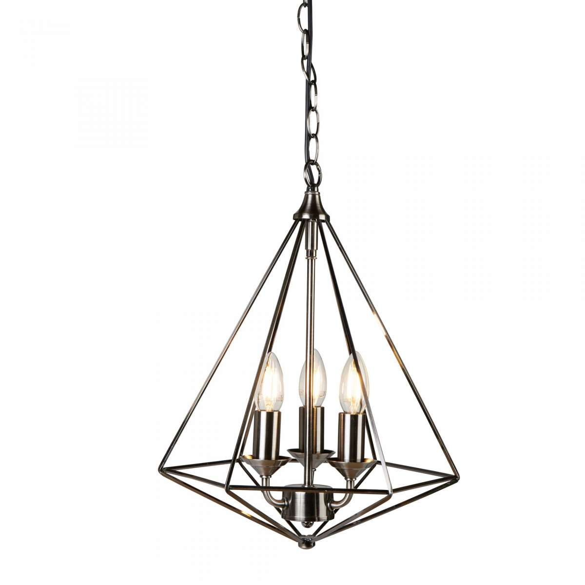 Searchlight 3si Diamond 3 Light Pyramid Pendant