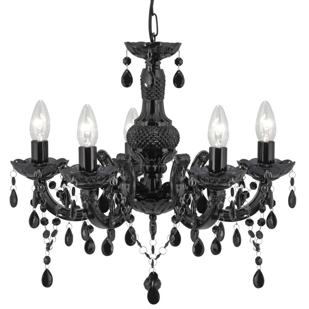 Searchlight 5bk Marie Therese Black 5 Light
