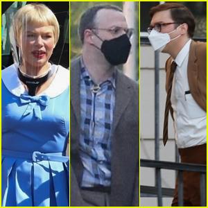 Michelle Williams, Paul Dano & Seth Rogen Arrive on the Set of Steven Spielberg's 'The Fabelmans'
