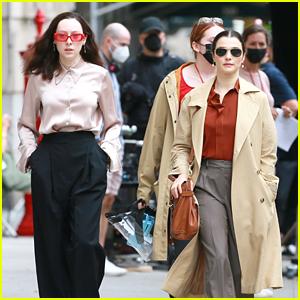Rachel Weisz & Kitty Hawthorne Switch Looks on 'Dead Ringers' Set