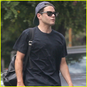 Rami Malek Heads Home Following Afternoon Tennis Lessons