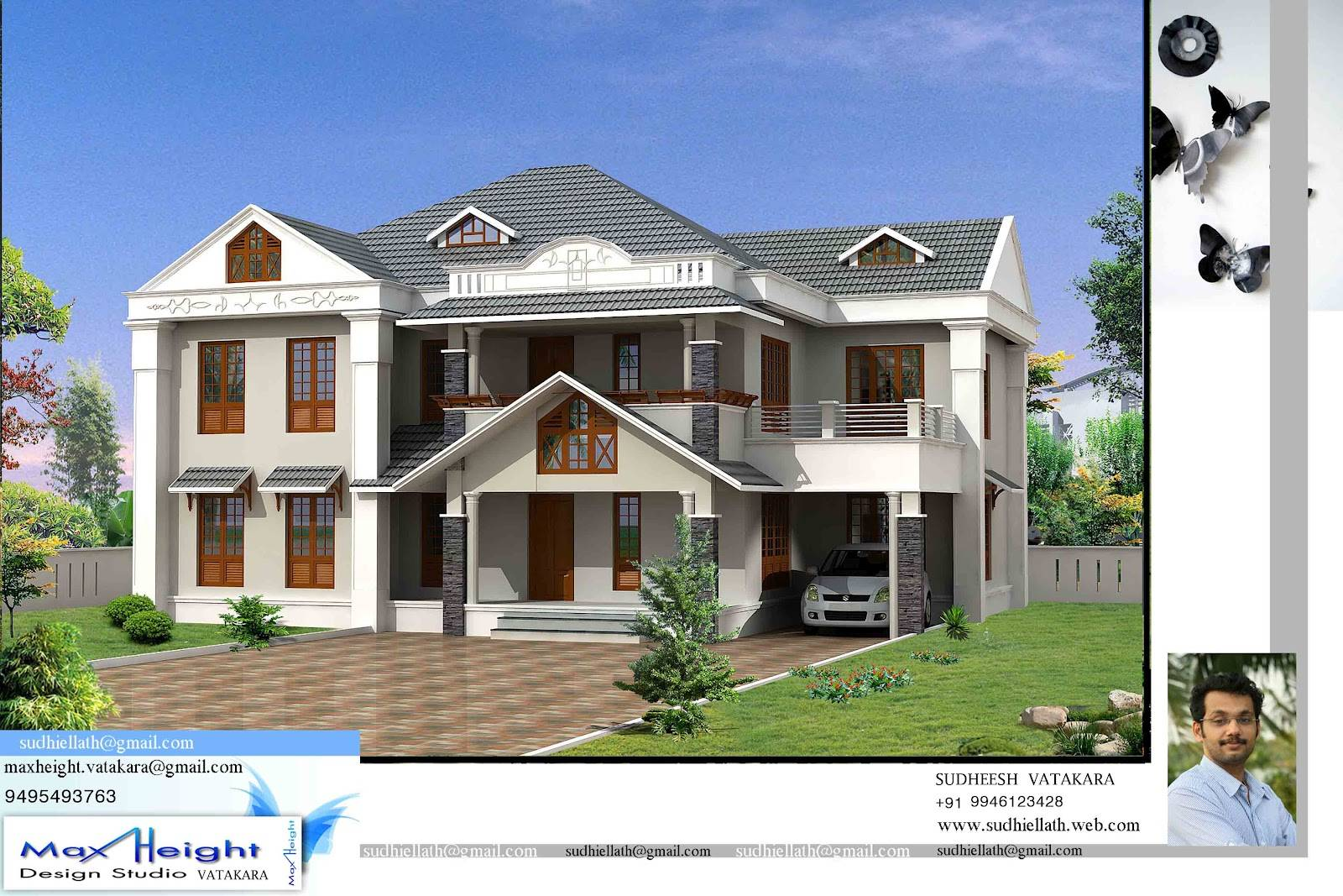 One Floor Box Model Home Design Kerala Home Design And Floor Plans